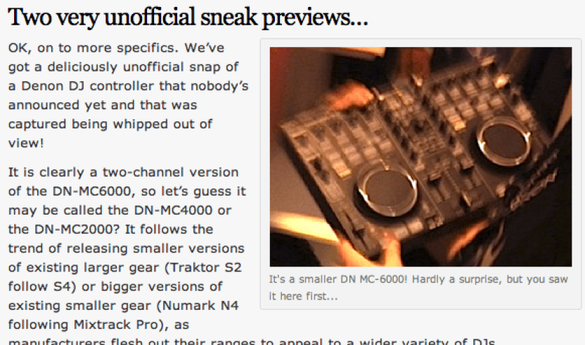 Sneak Preview: Denon MC-3000, 2-Kanal Controller