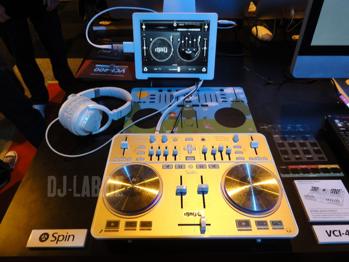 Vestax Spin & Apple iPad