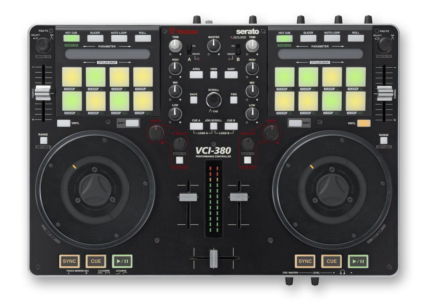Vestax VCI-380 - 2-Deck Performance-Controller für Serato ItchVestax VCI-380 - 2-Deck Performance-Controller for Serato Itch