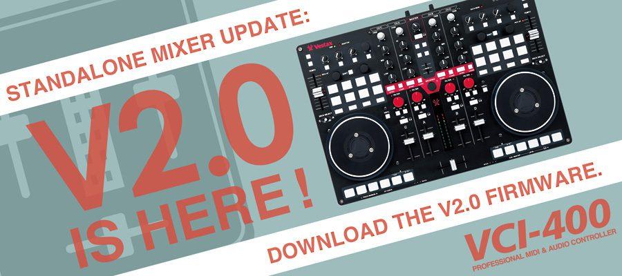 Vestax VCI-400 Stand Alone Mixer Update 2.0