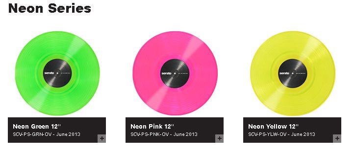 Neu: Serato Control Vinyl in Neonfarben