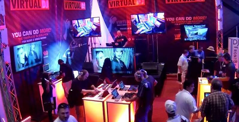 Atmix Virtual Dj Stand auf der DJ Expo in Atlantic City, USA