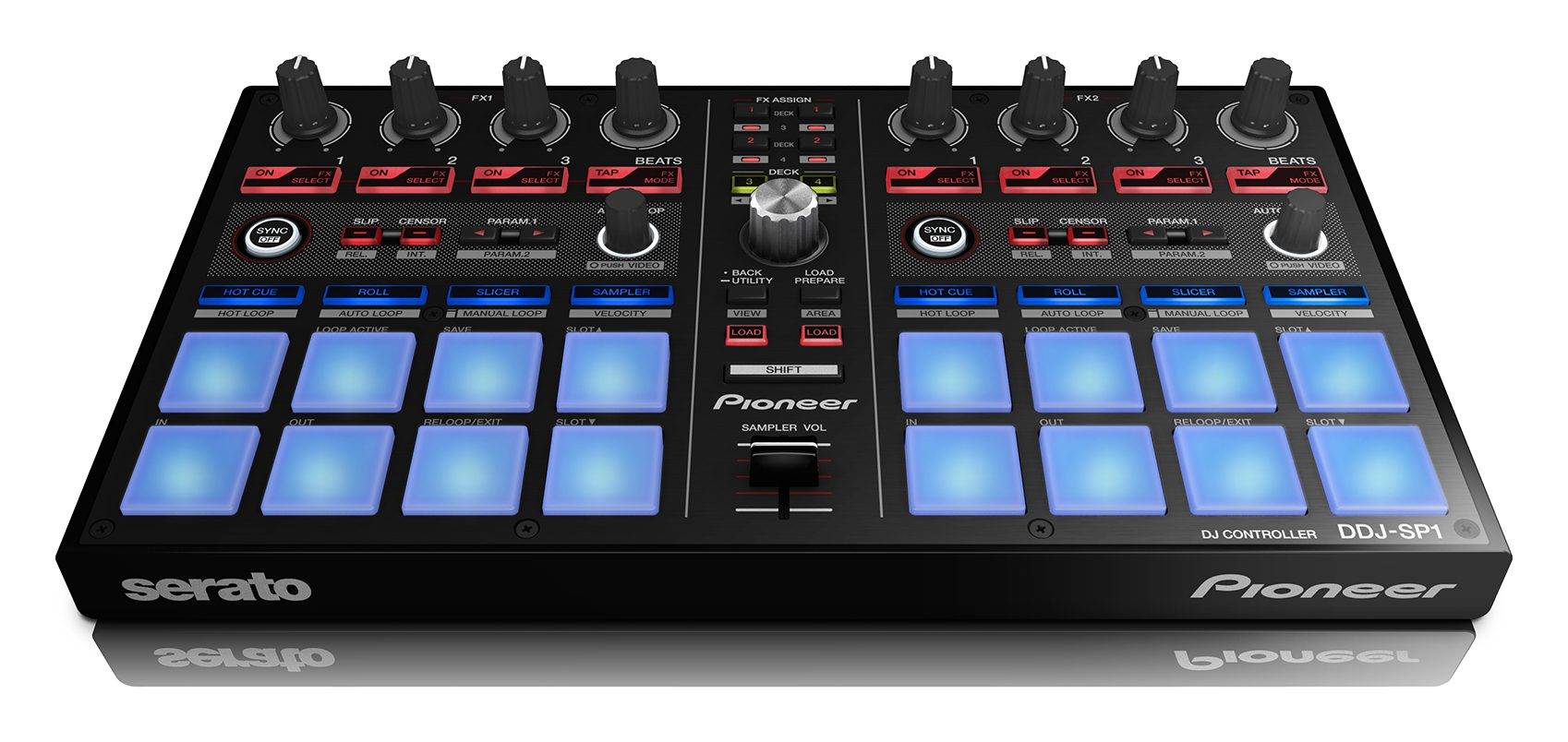 Neu: Pioneer DDJ-SP1 - Serato DJ Add-On Controller für Effekte, Loops und Sampler New: Pioneer DDJ-SP1 - Serato DJ Add-On Controller