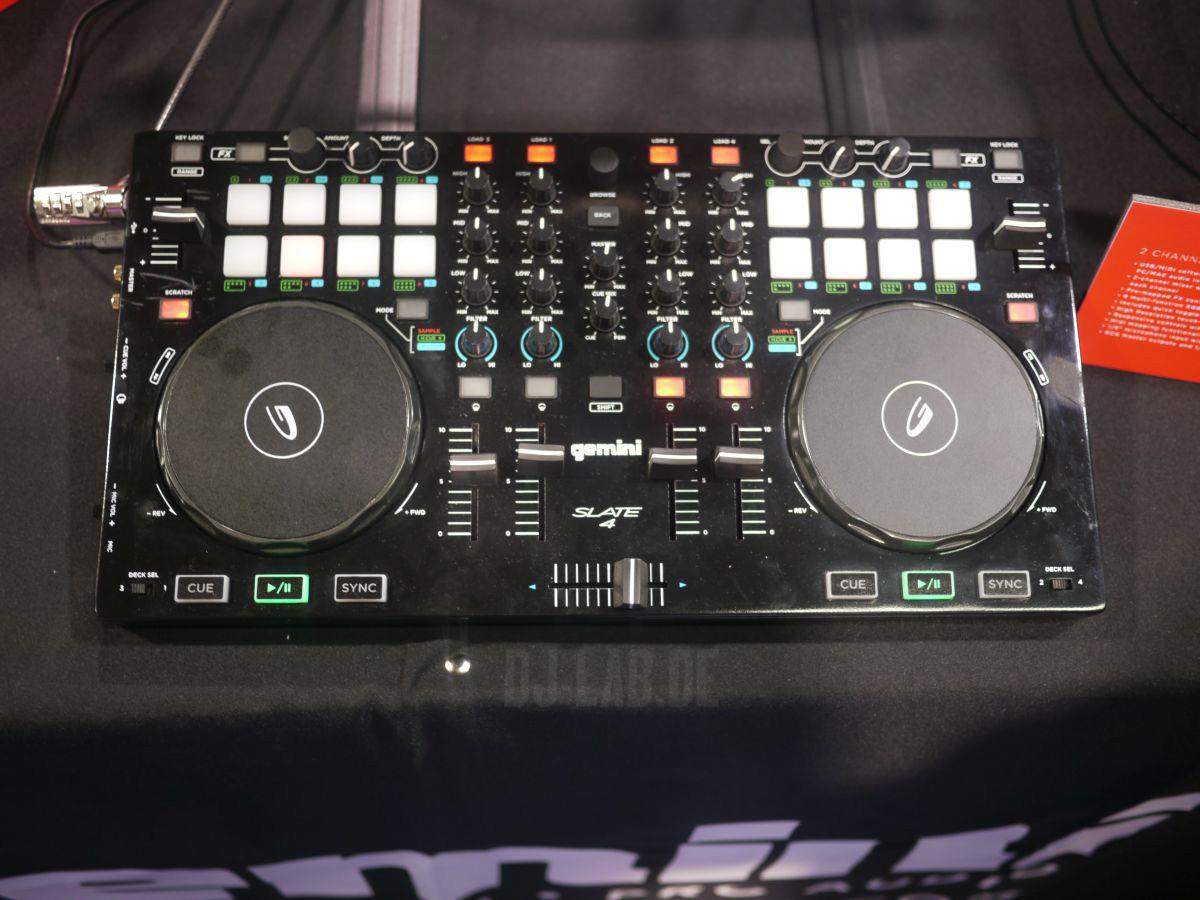 NAMM 2014: Gemini Slate und Slate4 - Einstiegs-Controller für Virtual DJ