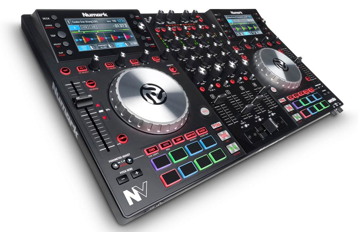 Numark NV – 4-Deck DJ-Controller mit Screens