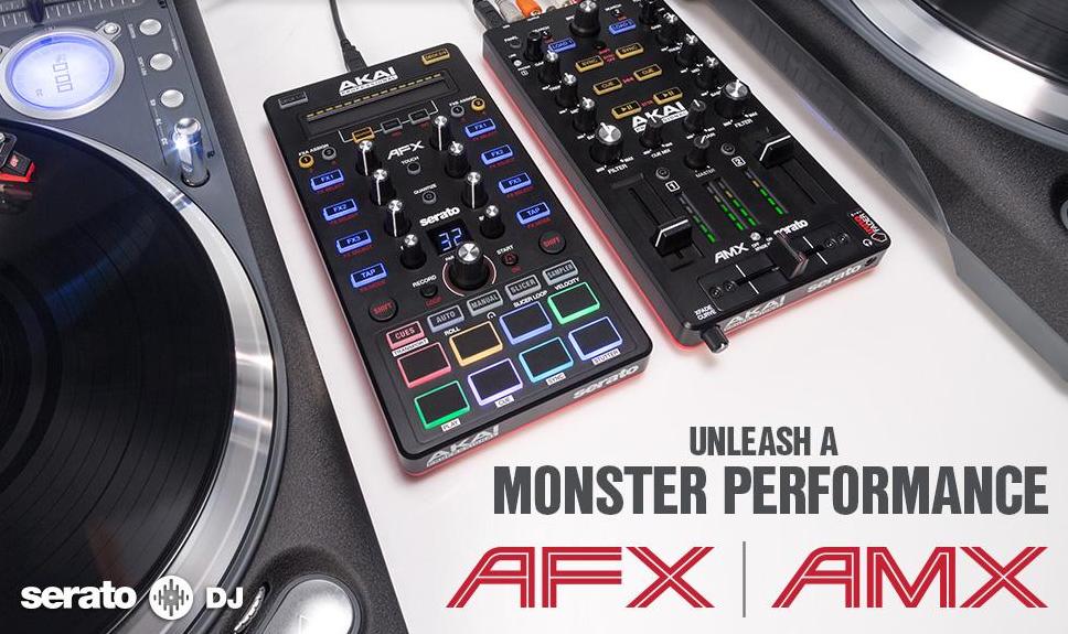 Neu: Akai Pro AMX & AFX - Modulare Serato DJ Controller