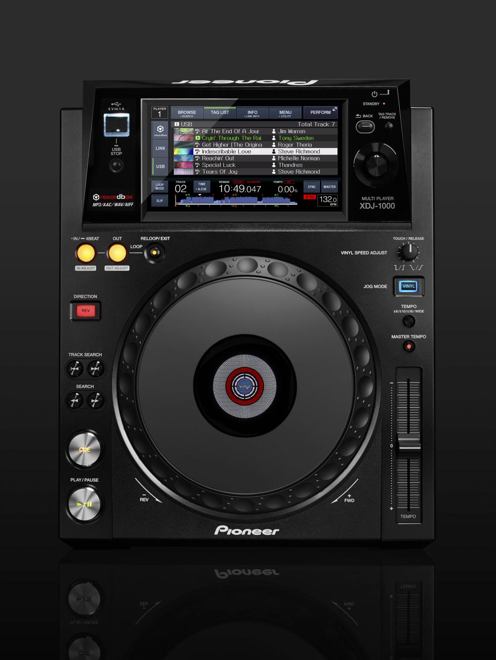 neu pioneer xdj 1000 mediaplayer deck ohne cd laufwerk. Black Bedroom Furniture Sets. Home Design Ideas