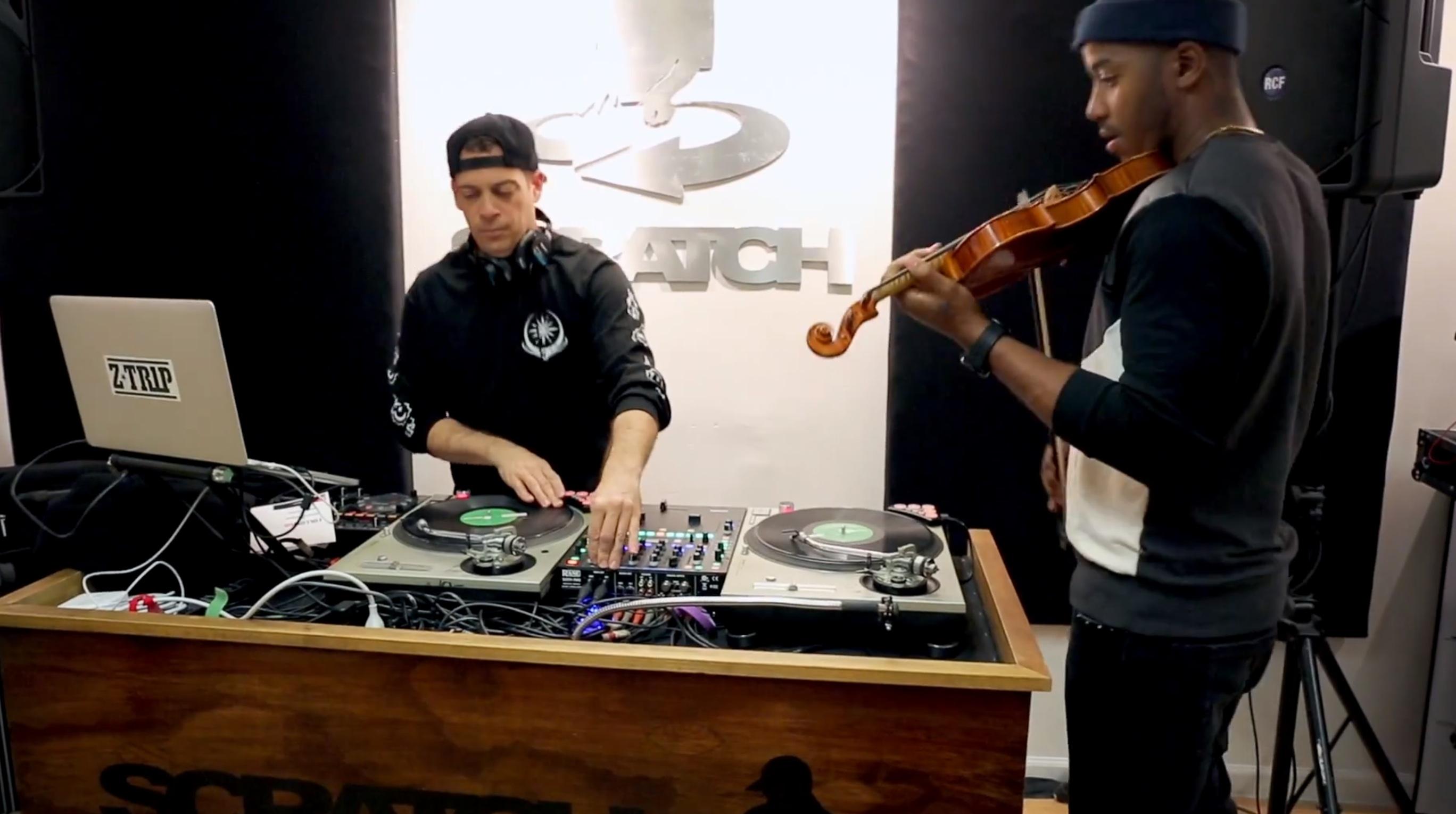 Video: Z-Trip & Damien Escobar - Scratching vs. Violine