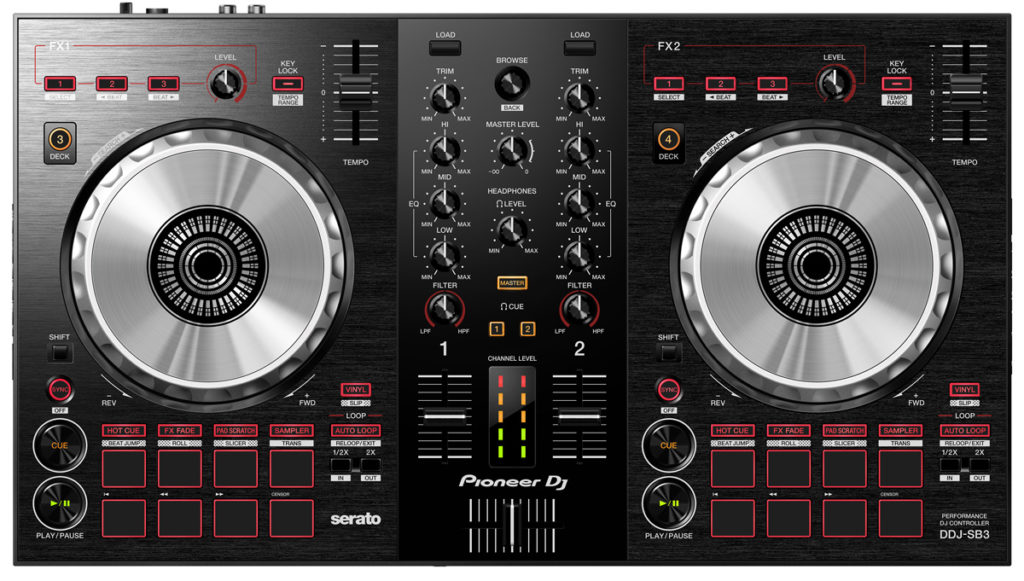 DJ-Controller für Einsteiger: Pioneer DJ DDJ-SB3.
