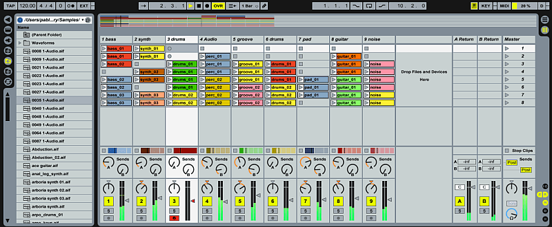 Screenshot ABLETON Software