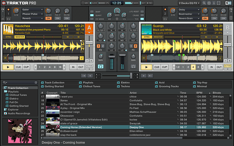 Screenshot TRAKTOR Software