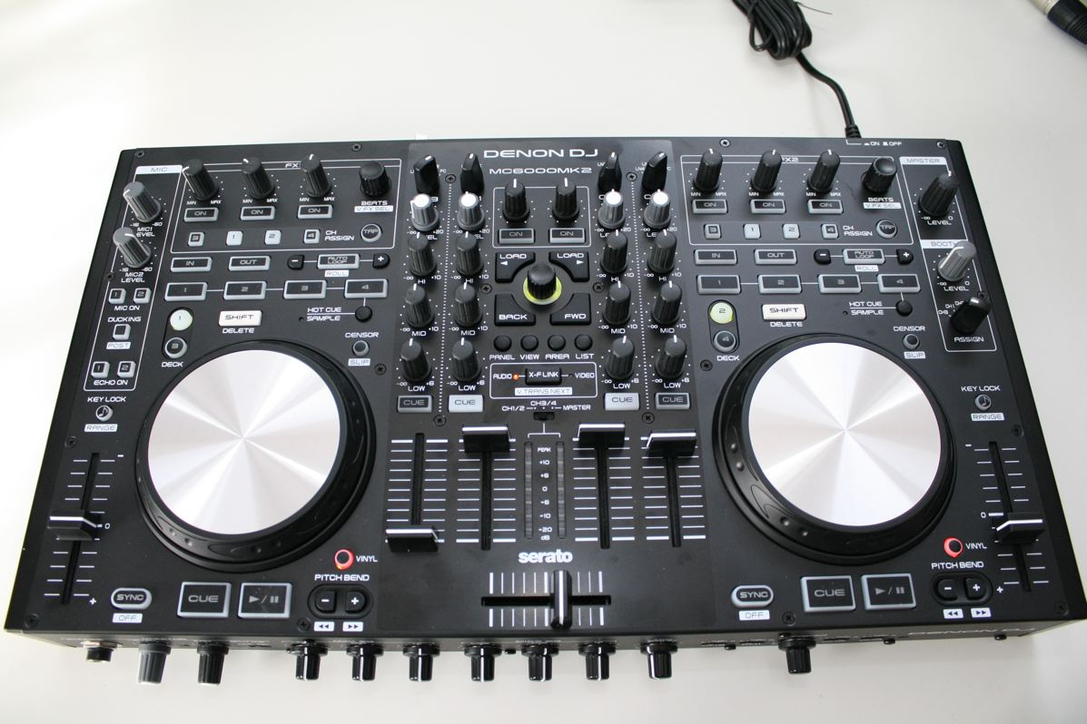 test denon mc6000 mk2 4 kanal controller f r serato. Black Bedroom Furniture Sets. Home Design Ideas