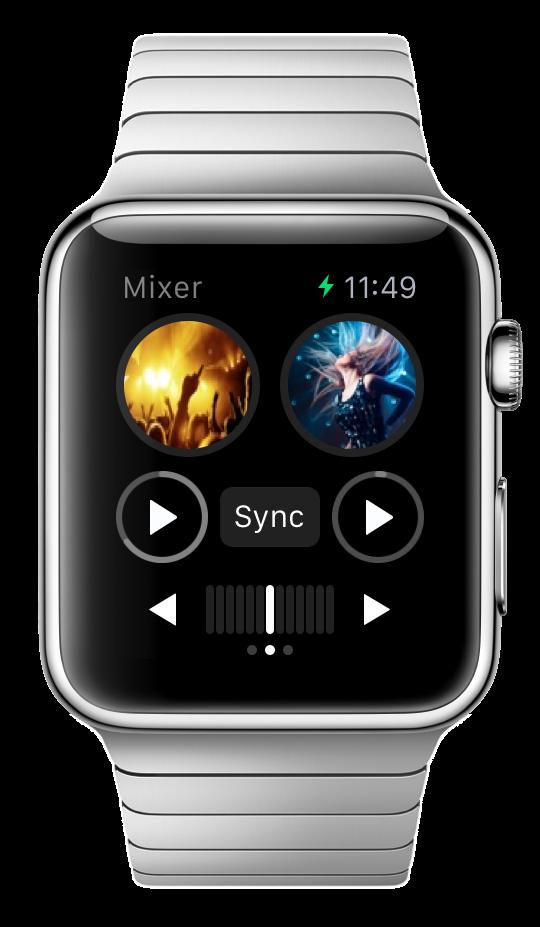 Algoriddim djay 2 für Apple Watch - DJing mit der Armbanduhr