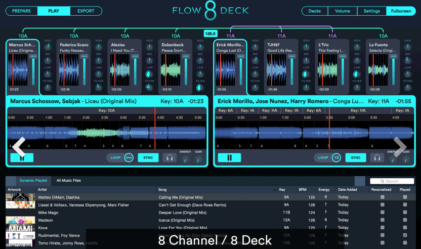 Mixed in Key Flow 8 Deck - 8-Deck DJ Software mit STEMS Feature