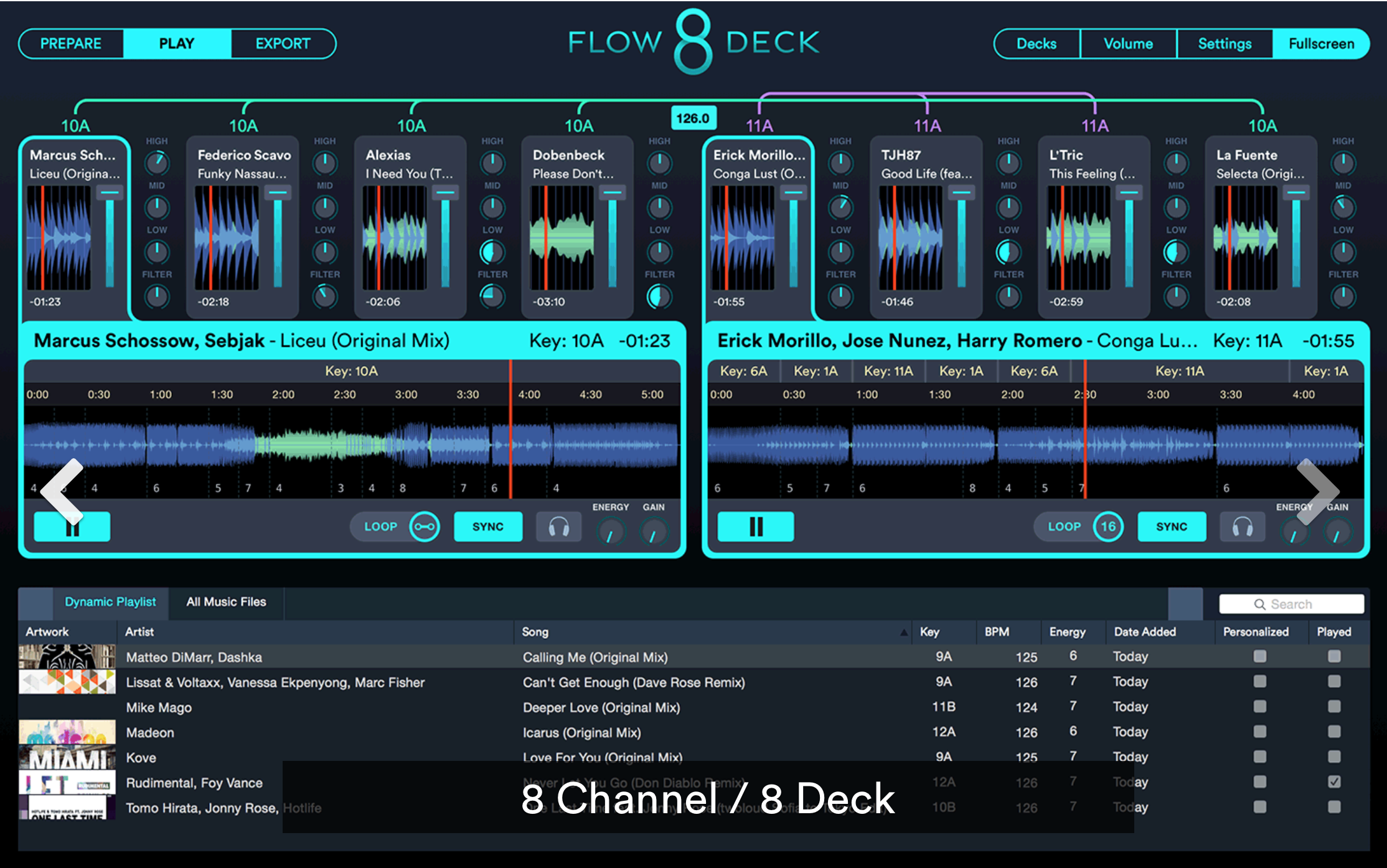 Mixed in Key Flow 8 Deck - 8-Deck DJ Software mit STEMS Feature