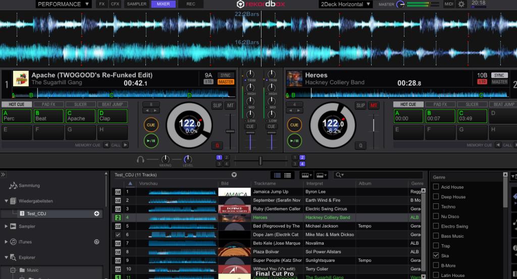 Pioneer CDJ-2000 NXS2 Rekordbox DJ Software