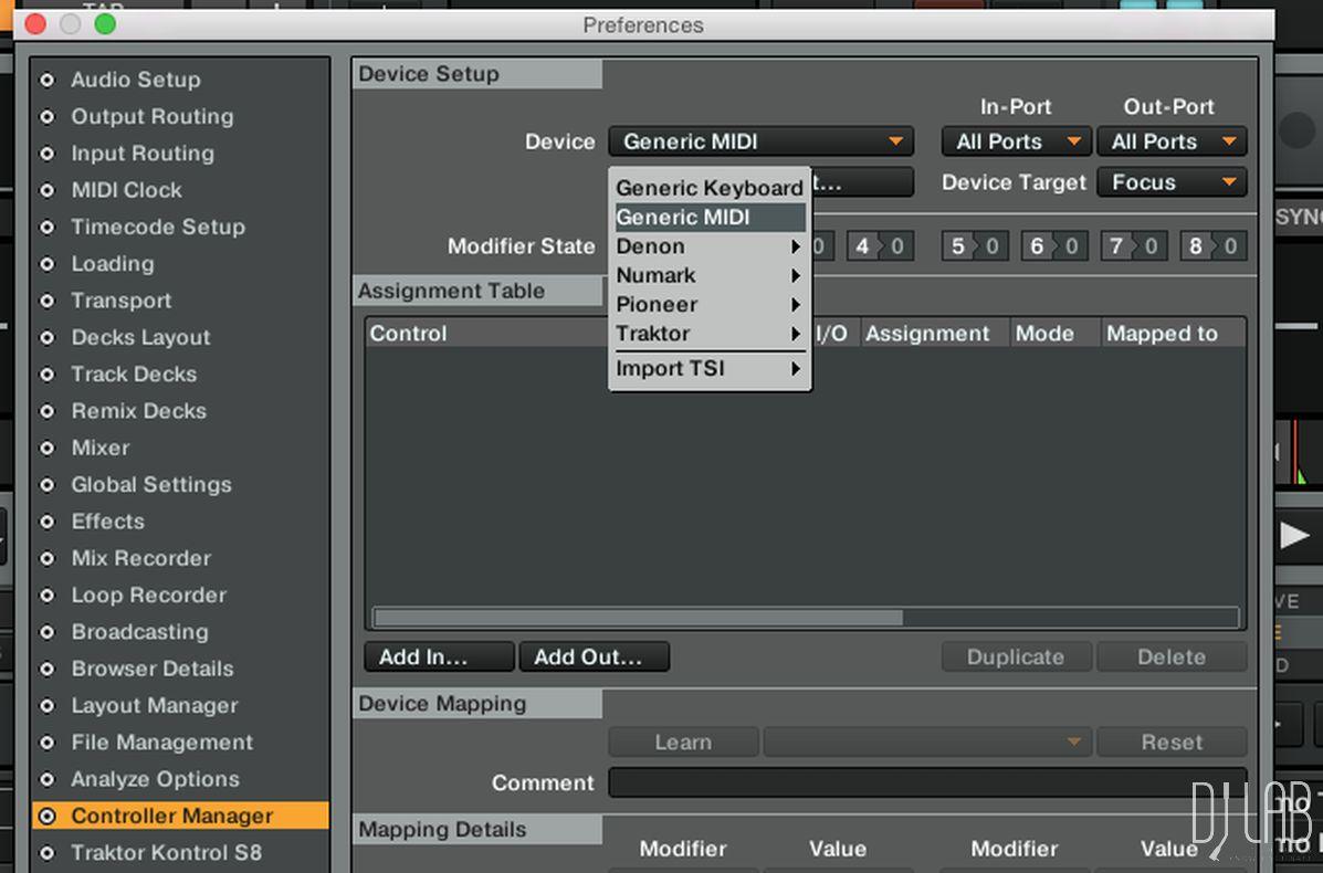 Generic MIDI-Device ergänzen