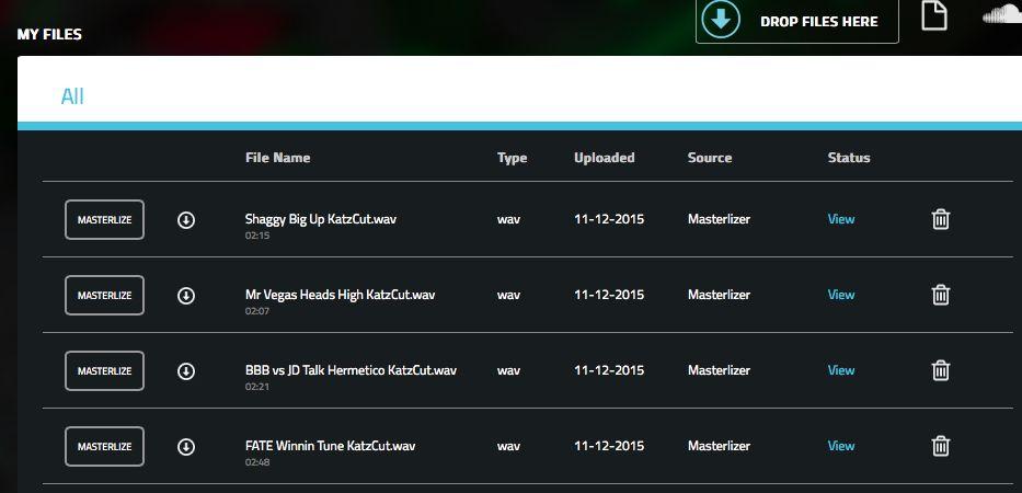 kostenloses_online_mastering_Masterlizer_History