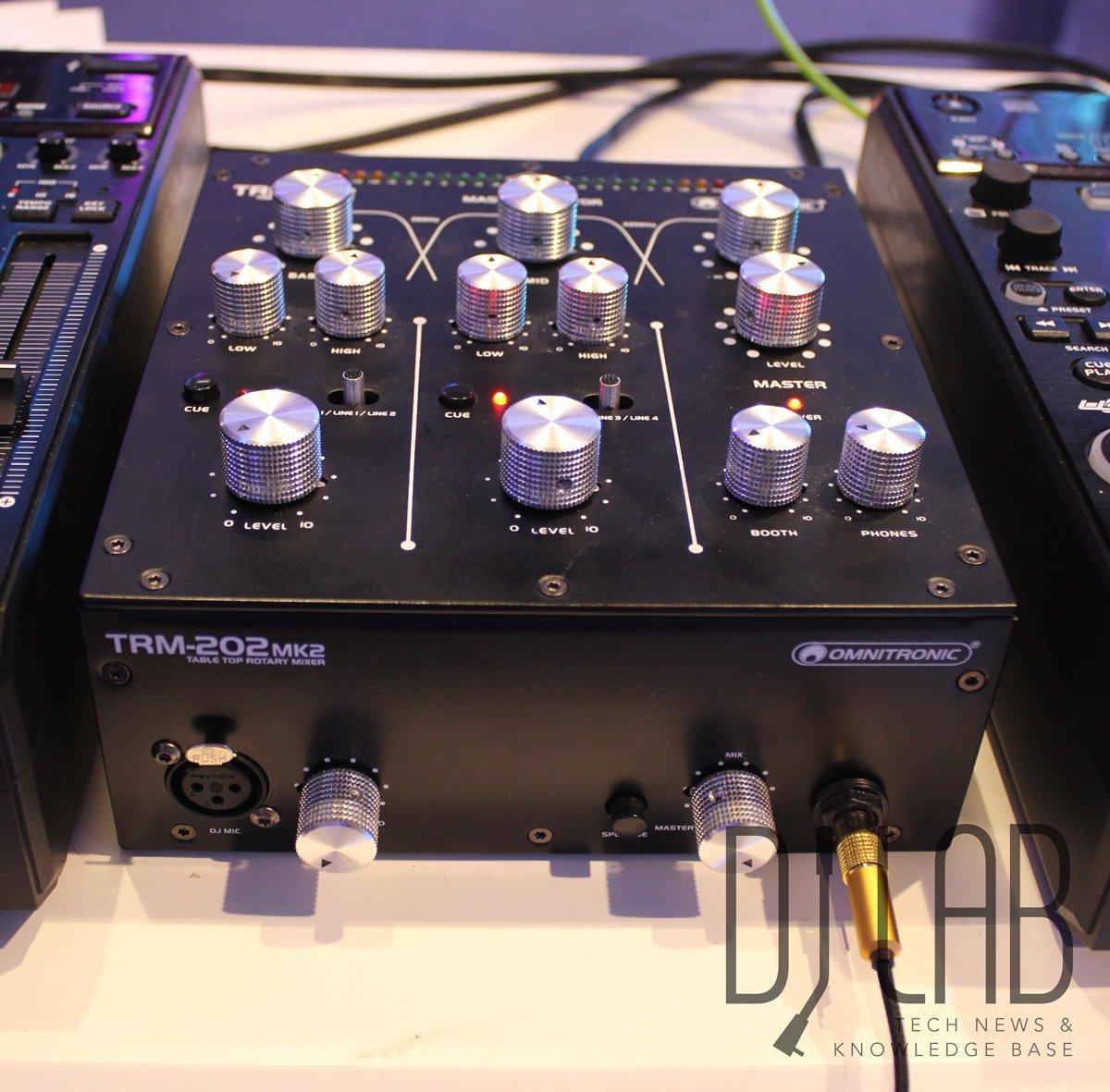 Musikmesse 2016: Omnitronic TRM-202MK2 - Kompakter Rotary-Mixer