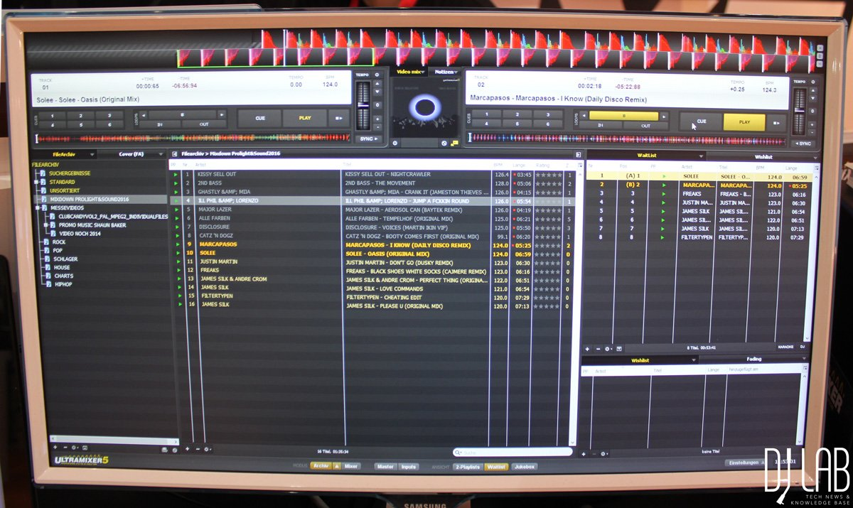 Musikmesse 2016: Ultramixer 5S Entertain - Smartes Update für die DJ-Software