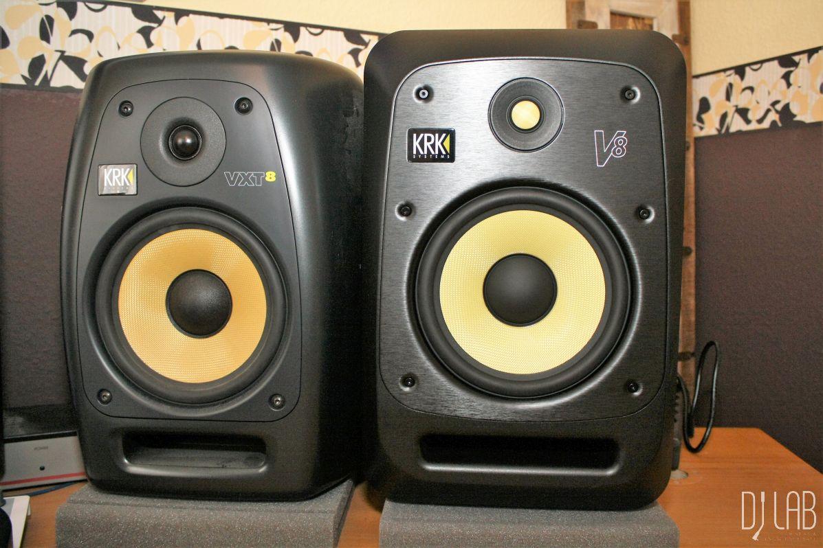 Vergleichstest: Studiomonitore KRK VXT8 vs KRK V8 S4