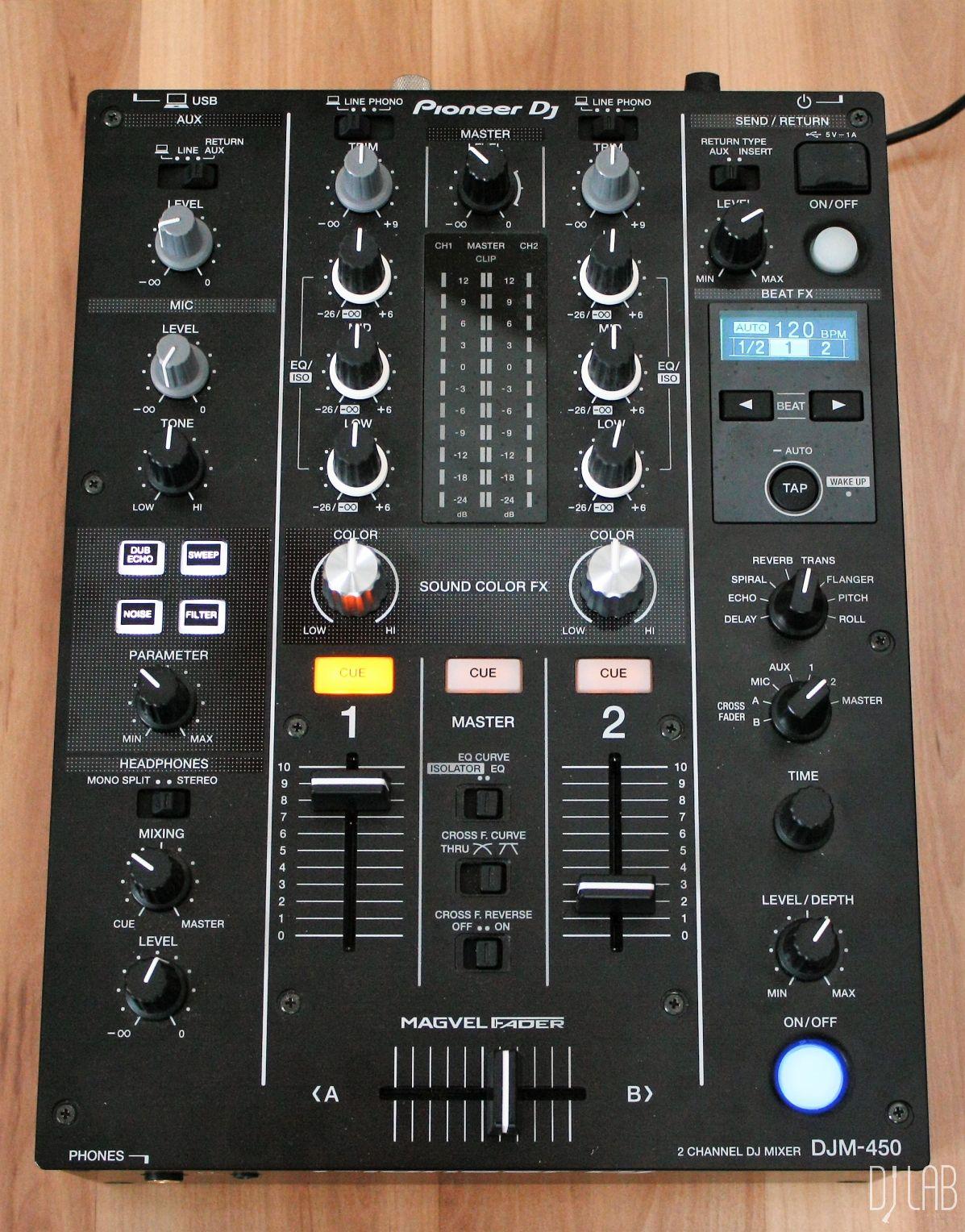 Test: Pioneer DJ DJM-450 – DVS 2-Kanal Mixer