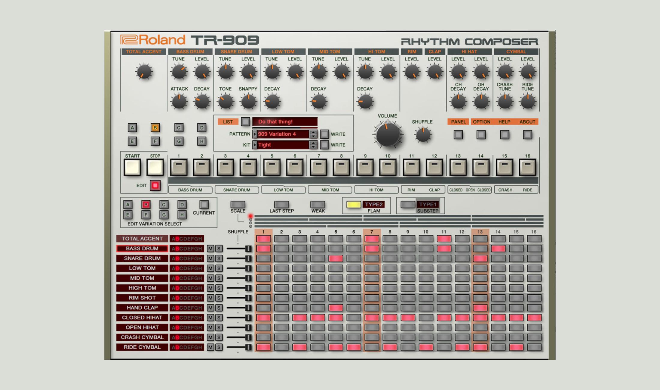 Roland veröffentlicht TR-909 Plugin