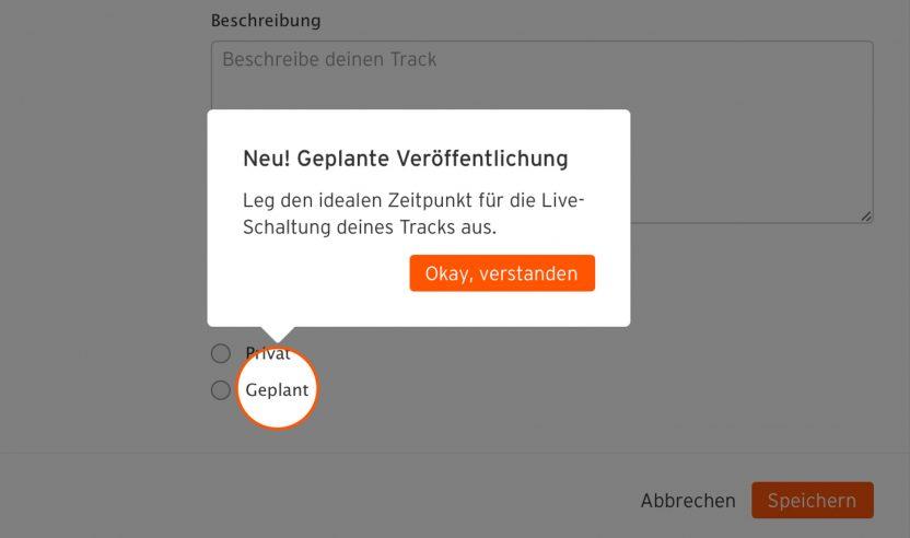 SoundCloud Update: Planen von Beiträgen