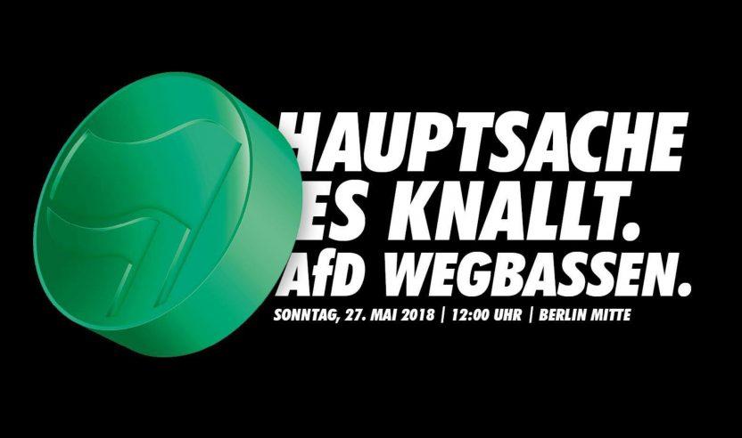 Demonstration: Techno-Szene gegen AfD