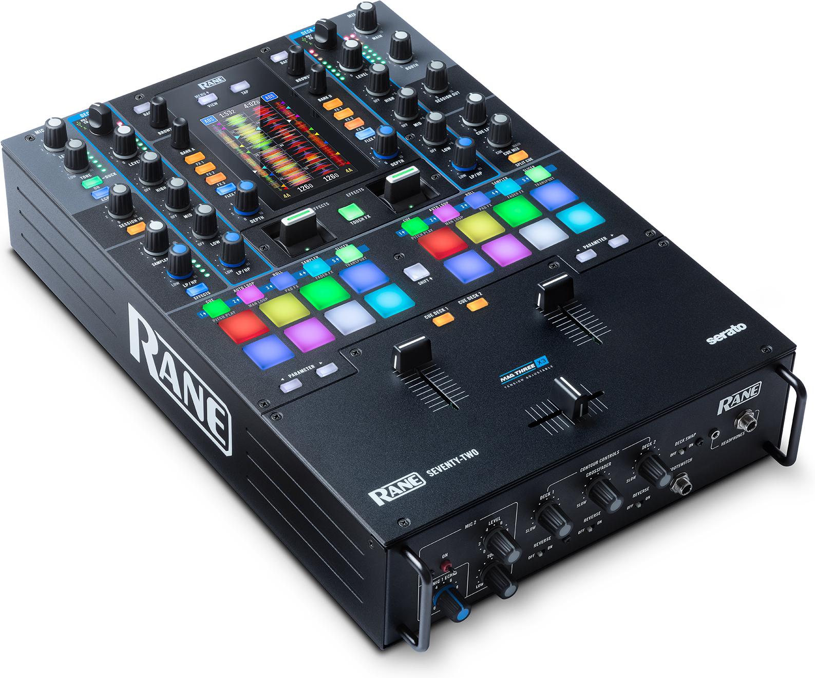 Rane Seventy-Two Mixer in der Draufsicht.