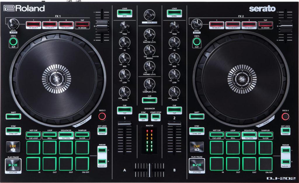 DJ-202 Controller Draufsicht