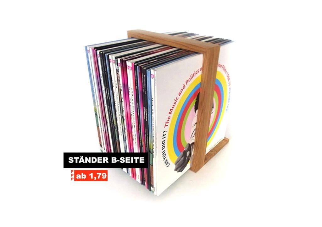 Kleine Version eines Plattenregal: B-Seite Ständer.