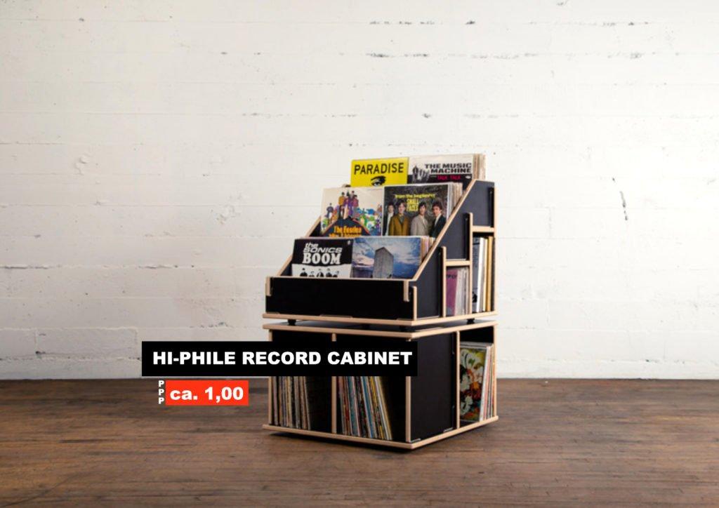 Ein Plattenregal von Hi-Phile.