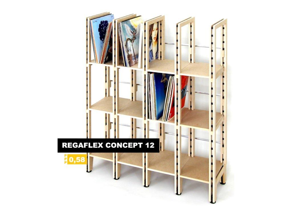 Das Regaflex Concept 12 Plattenregal.