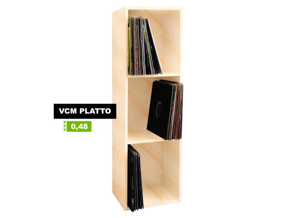 Ein Plattenregal von VCM.