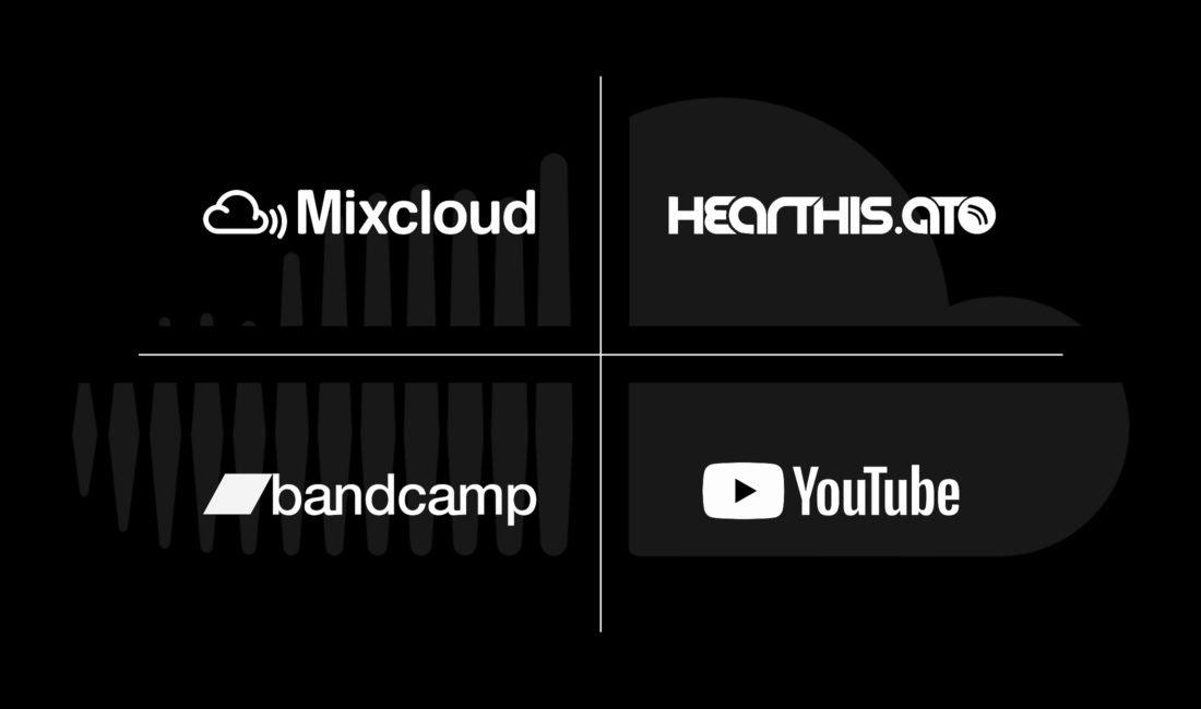 SoundCloud Alternativen snd Mixcloud, Hearthis, Bandcamp oder YoutTube