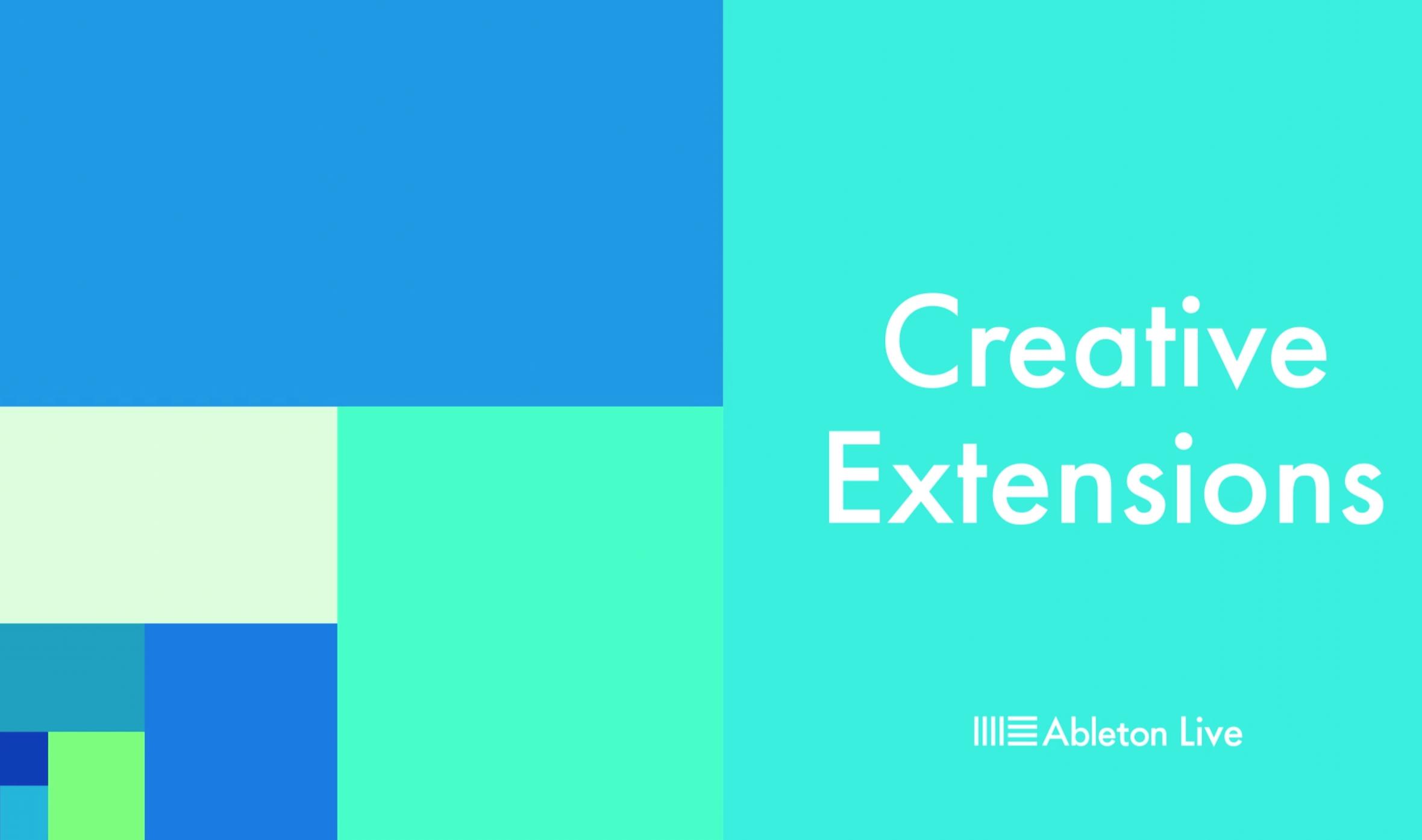 Neu: Ableton veröffentlicht Creative Extensions