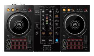 Pioneer DJ DDJ-400 DJ Controller in der Draufsicht.