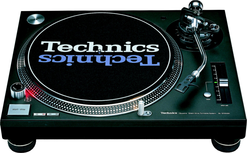 Plattenspieler Setup mit Technis Turntables.