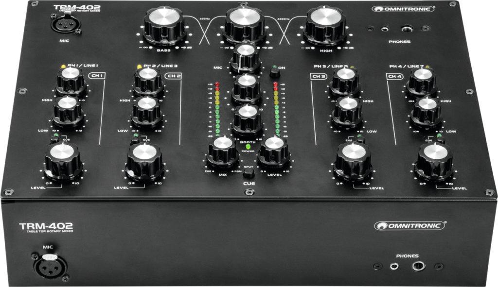 Omnitronic_TRM-402 Mixer Draufsicht.