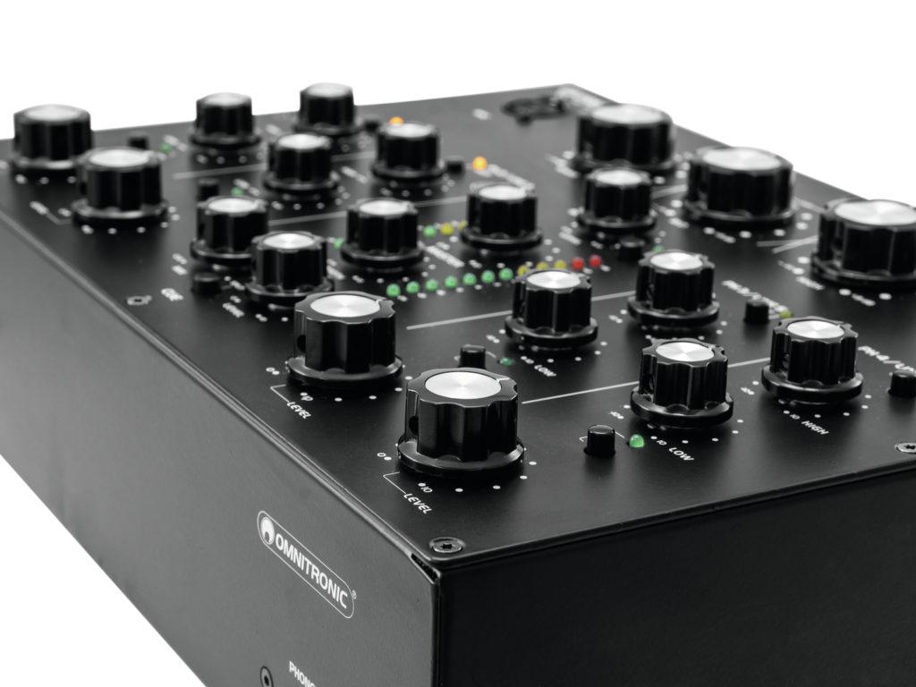 Omnitronic TRM-402 Mixer Closeup.