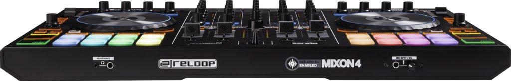 Reloop Mixon 4 DJ-Controller Vorderseite.