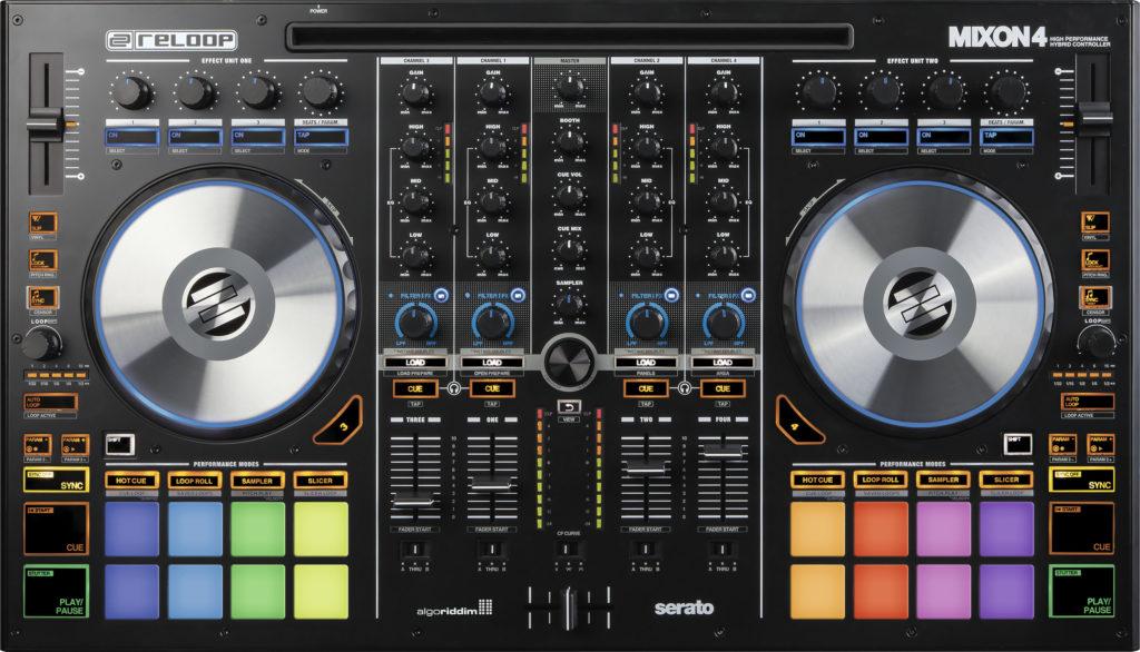 Reloop Mixon 4 DJ Controller Draufsicht.