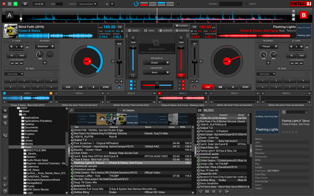 Kostenlose DJ-Software: Virtual DJ 8 Home Free.