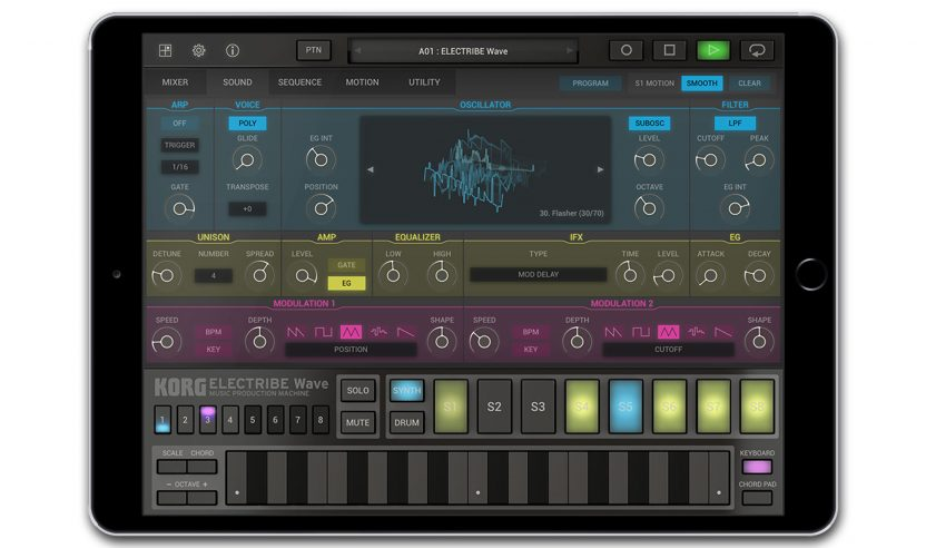 Korg Electribe Wave mit Wavetable-Synthese fürs iPad
