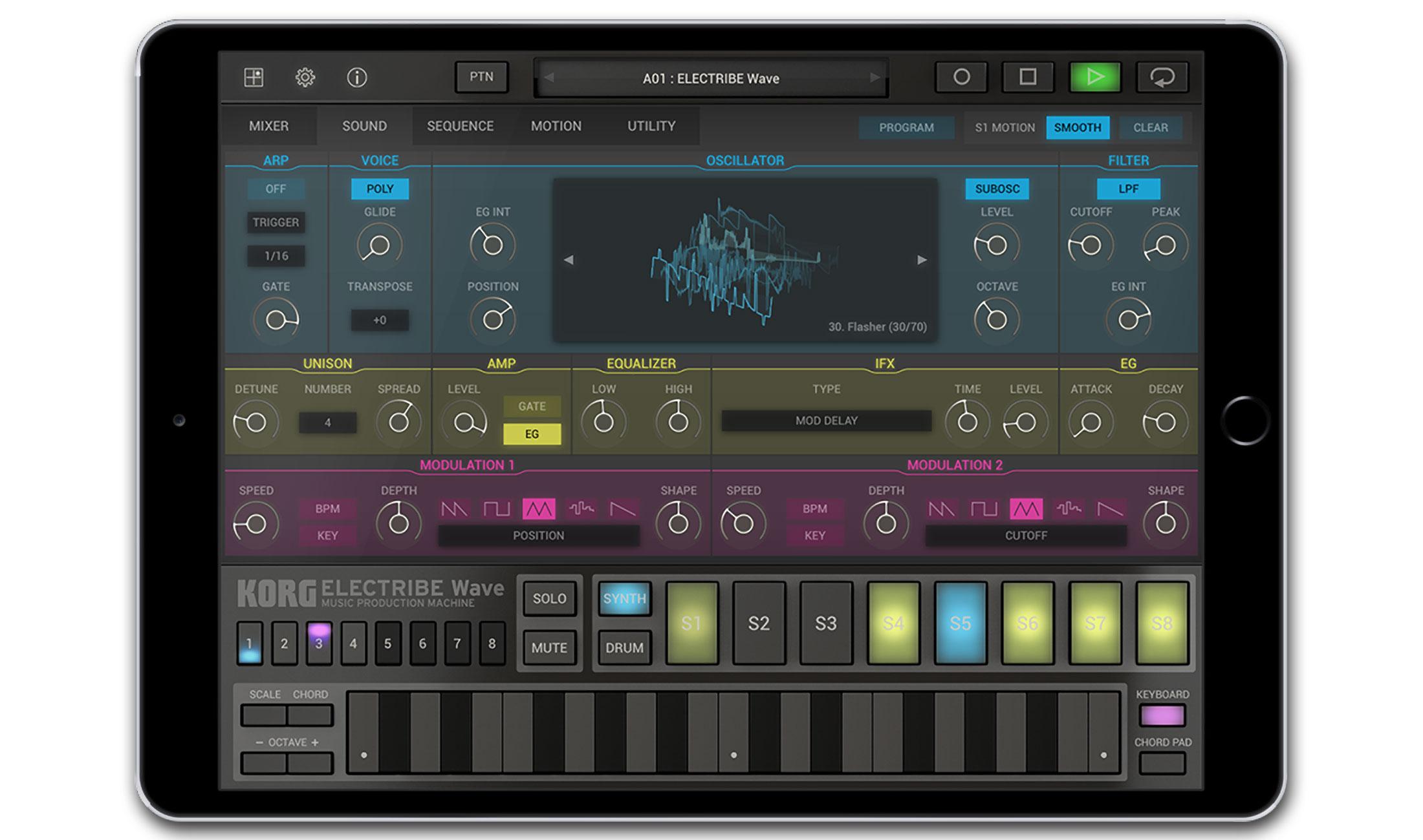 Korg Electribe Wave mit Wavetable-Synthese fürs iPad