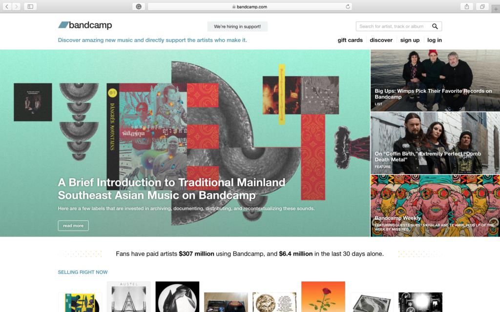 Bandcamp gehört zu den Beatport Alternativen.