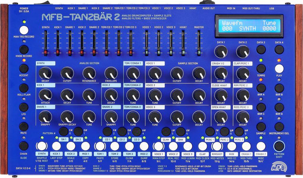 Eine der besten Drum Machines: Tanzbär 2.