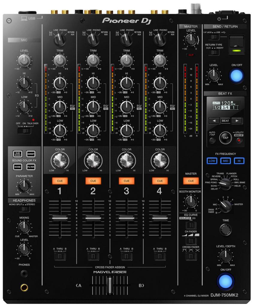 DJM-750MK2 DJ-Mixer von Pioneer DJ.