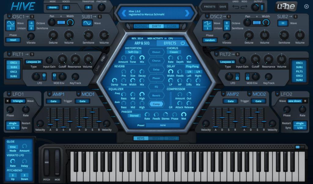 Der Hive Synthesizer von U-He.